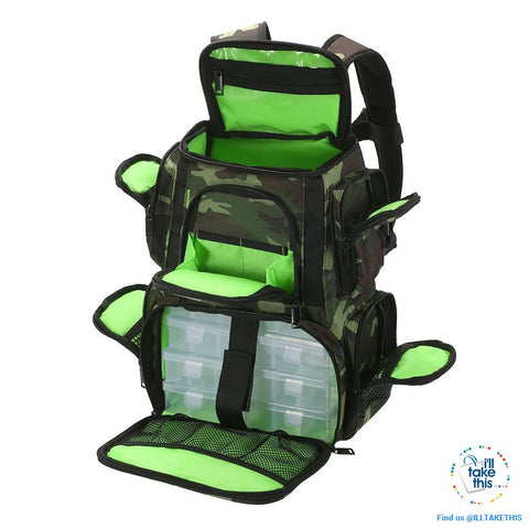 Image of Fishermans backpack, get serious with your Fishing Tackle Organization 🐟 - I'LL TAKE THIS