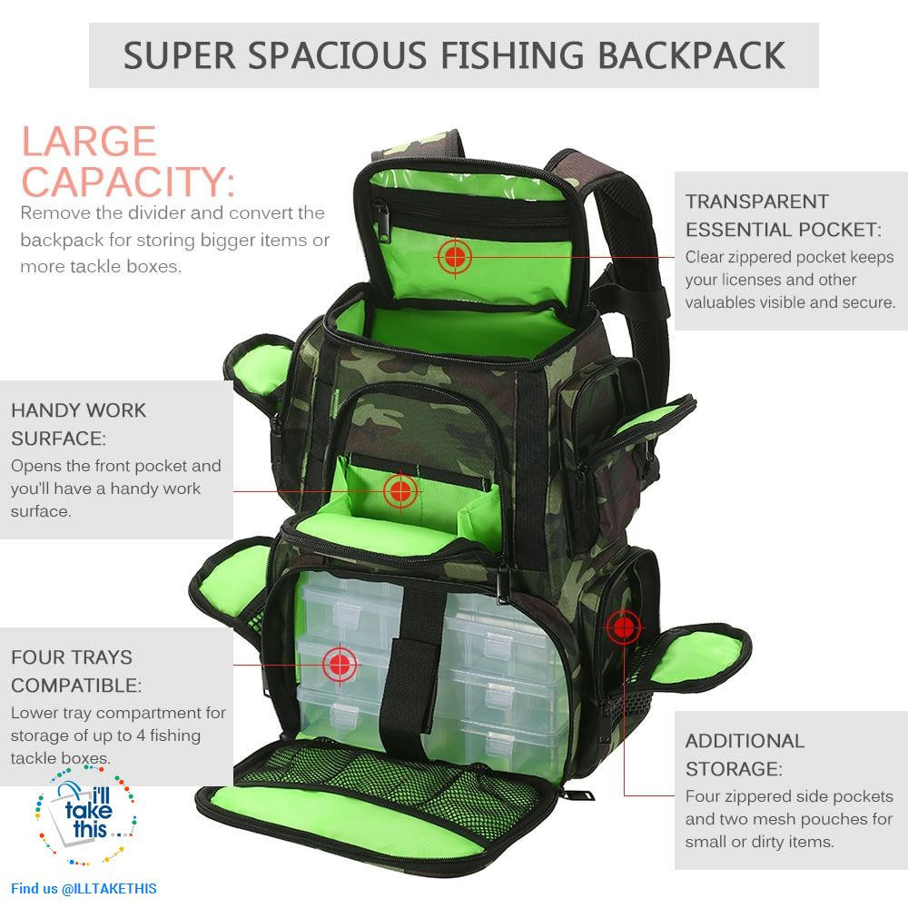 Fishermans backpack, get serious with your Fishing Tackle Organization 🐟 - I'LL TAKE THIS