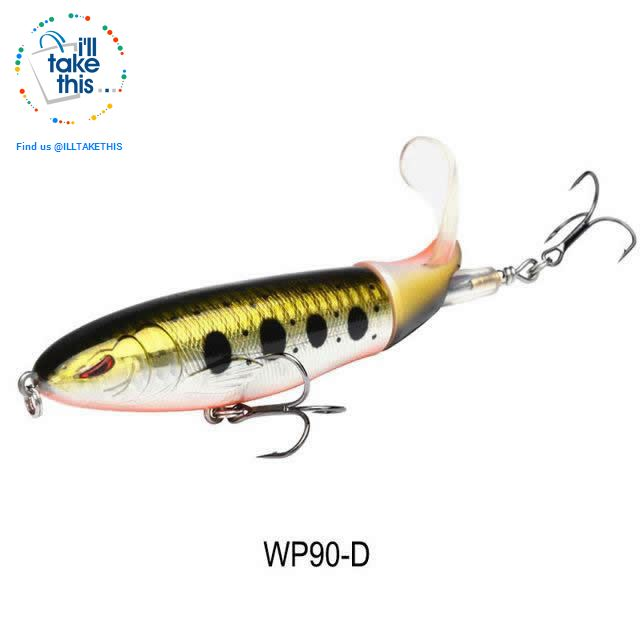 Bigass Bass Whopper Popper 9cm/11cm/13cm Topwater Fishing Lure - Soft Rotating Tail - I'LL TAKE THIS