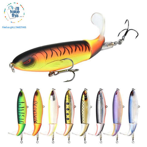 Image of Bigass Bass Whopper Popper 9cm/11cm/13cm Topwater Fishing Lure - Soft Rotating Tail - I'LL TAKE THIS