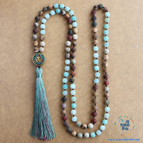 🧘 💝 Beautiful Handmade Natural Stone Mala Necklace - I'LL TAKE THIS