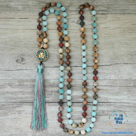 Image of 🧘 💝 Beautiful Handmade Natural Stone Mala Necklace - I'LL TAKE THIS