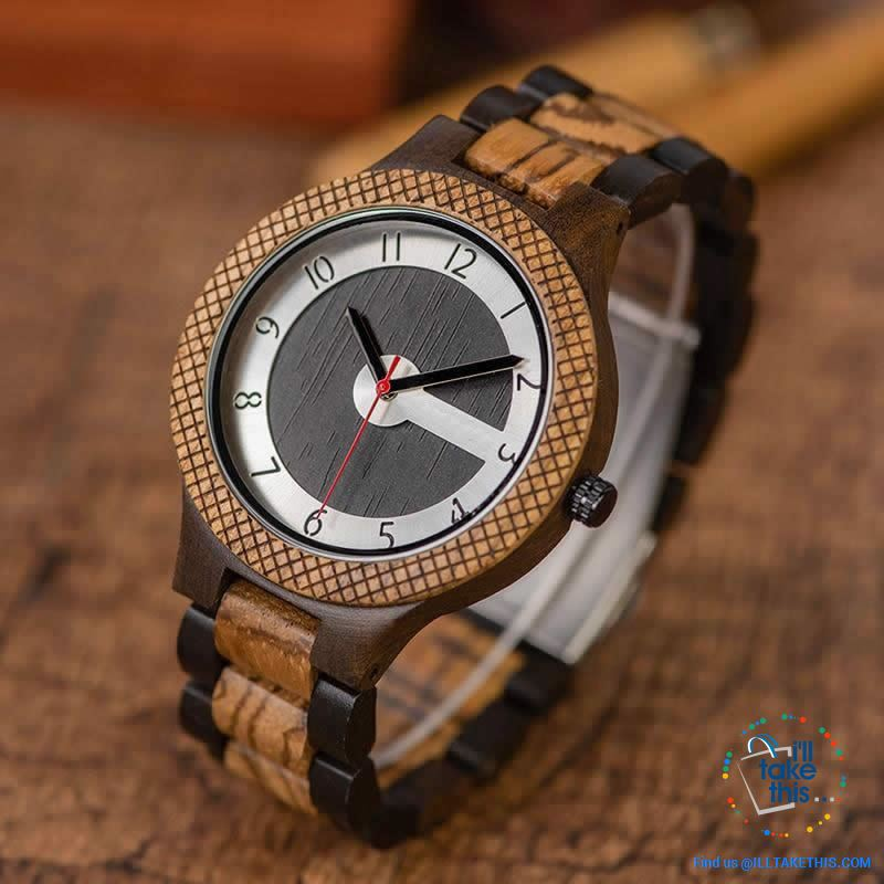 Matt Black or Tanned Textured Designer Wooden Minimalist Watches - a Must have for any collection! - I'LL TAKE THIS