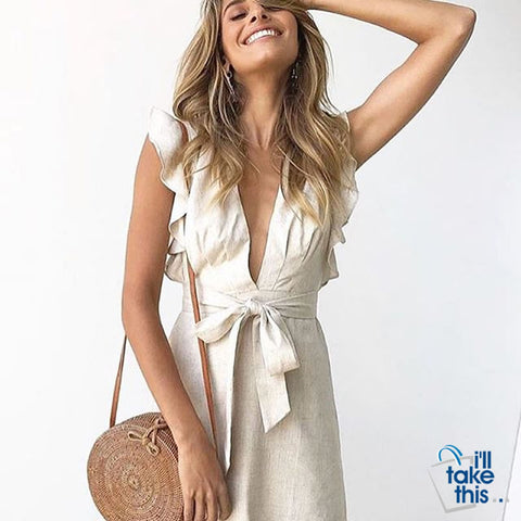 Image of Bohemian Circular Beach Bag Hand Woven Straw + Round Butterfly Rattan buckle with real leather strap - I'LL TAKE THIS