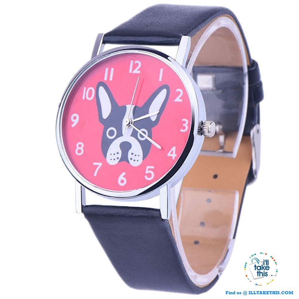 Very Cute Boston Terrier Women's Watches in 3 Fashionable Design color straps. - I'LL TAKE THIS