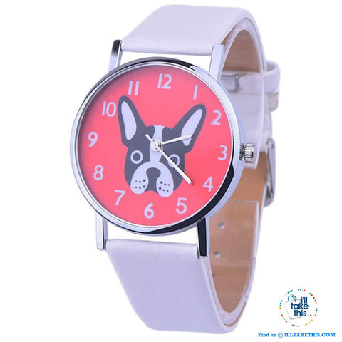 Image of Very Cute Boston Terrier Women's Watches in 3 Fashionable Design color straps. - I'LL TAKE THIS