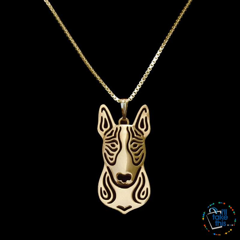 Bull Terrier Lovers' a unique designed Pendant in Gold, Silver or Rose Gold Plating + BONUS Necklace - I'LL TAKE THIS