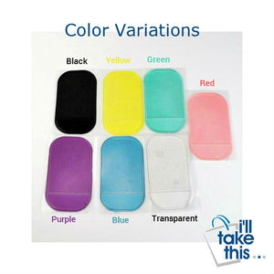 Anti-Slip Mat for Mobile Phone or GPS a great Automobile Interior Car Accessories, 7 colors