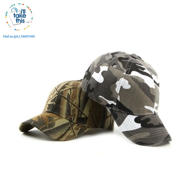 Camouflage Classic reinforced baseball Cap with hard hat edge - 3 Cool Tactical Colors - I'LL TAKE THIS