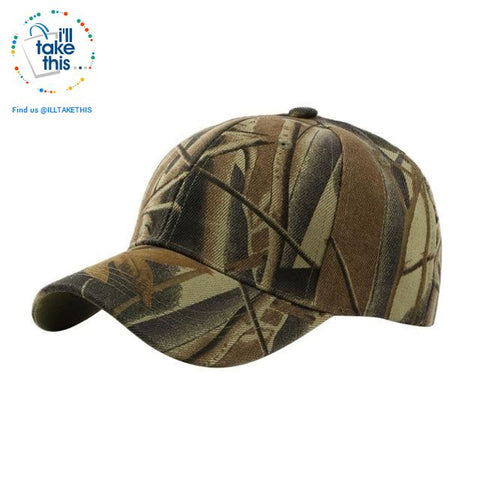 Image of Camouflage Classic reinforced baseball Cap with hard hat edge - 3 Cool Tactical Colors - I'LL TAKE THIS