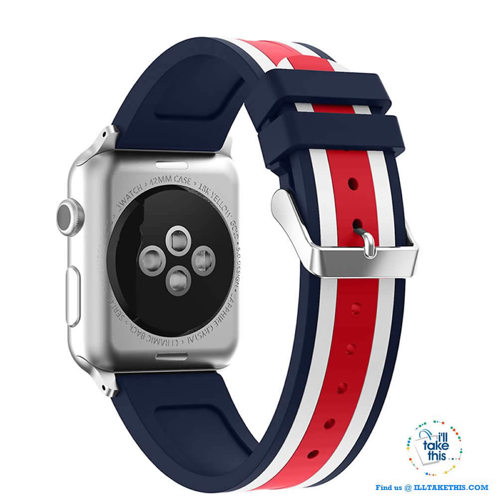 Apple Watchband, Colorful Silicone wrist strap suit Apple Series 4 down 38mm & 42mm - I'LL TAKE THIS