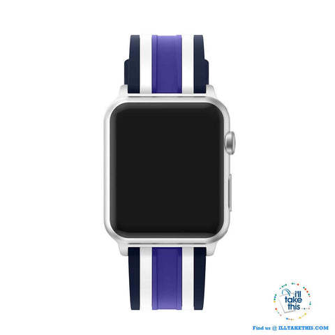 Image of Apple Watchband, Colorful Silicone wrist strap suit Apple Series 4 down 38mm & 42mm - I'LL TAKE THIS