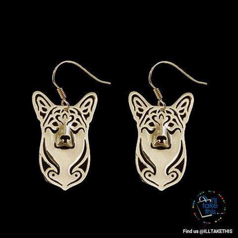 Image of Corgi Drop Earrings in Gold or Silver Plating - Dog Lovers Favorite of the Pembroke Welsh Corgi Dog - I'LL TAKE THIS