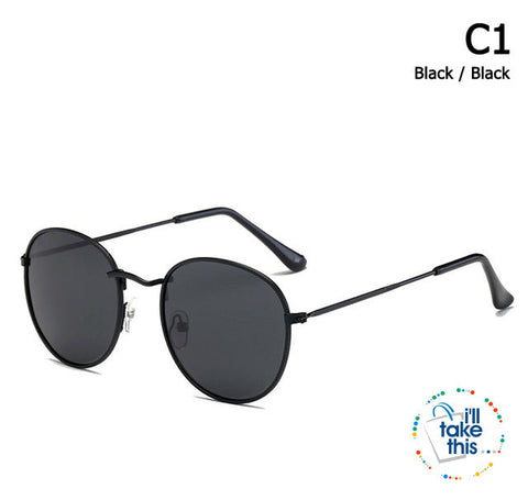 Image of Vintage Classic 3447 Round Metal Style Polarized Sunglasses Unisex Vintage Retro Sunglasses - I'LL TAKE THIS