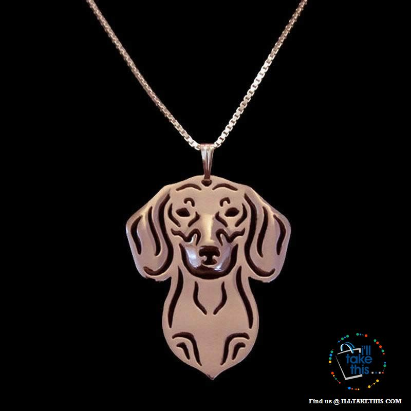 Dachshund Dog Lovers' a unique design Pendant in Gold, Silver or Rose Gold Plating + BONUS Necklace - I'LL TAKE THIS