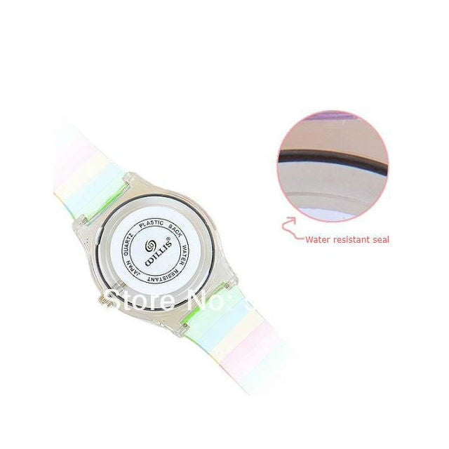 Mini Women Rainbow Colored Silicone Ladies or Child Watch - I'LL TAKE THIS