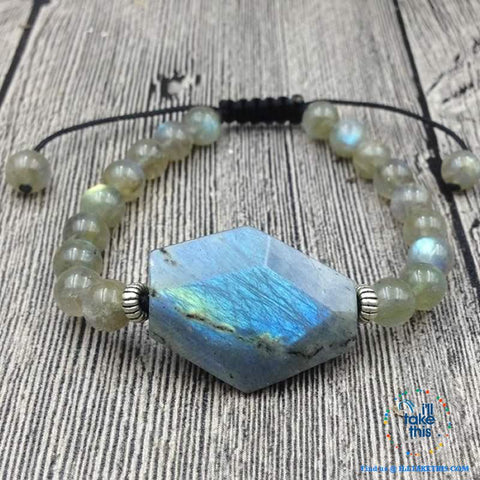 Image of Destiny Natural Labradorite Stone Bracelets - I'LL TAKE THIS