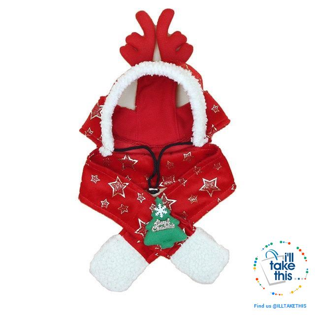 Pet Lovers our Dog/Cat Santa/Birthday Cap, Scarf, Antler and Christmas Hat Costume, S-XXL - I'LL TAKE THIS