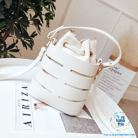 Image of Mini Vegan Leather Drawstring Bucket Bag For Women - Ideal Crossbody Bag/Shoulder Bags, 4 Colors - I'LL TAKE THIS
