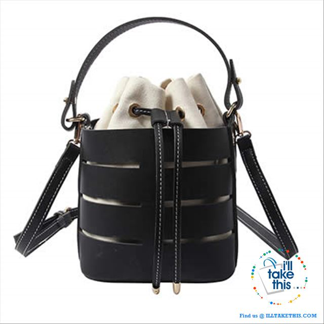 Mini Vegan Leather Drawstring Bucket Bag For Women - Ideal Crossbody Bag/Shoulder Bags, 4 Colors - I'LL TAKE THIS