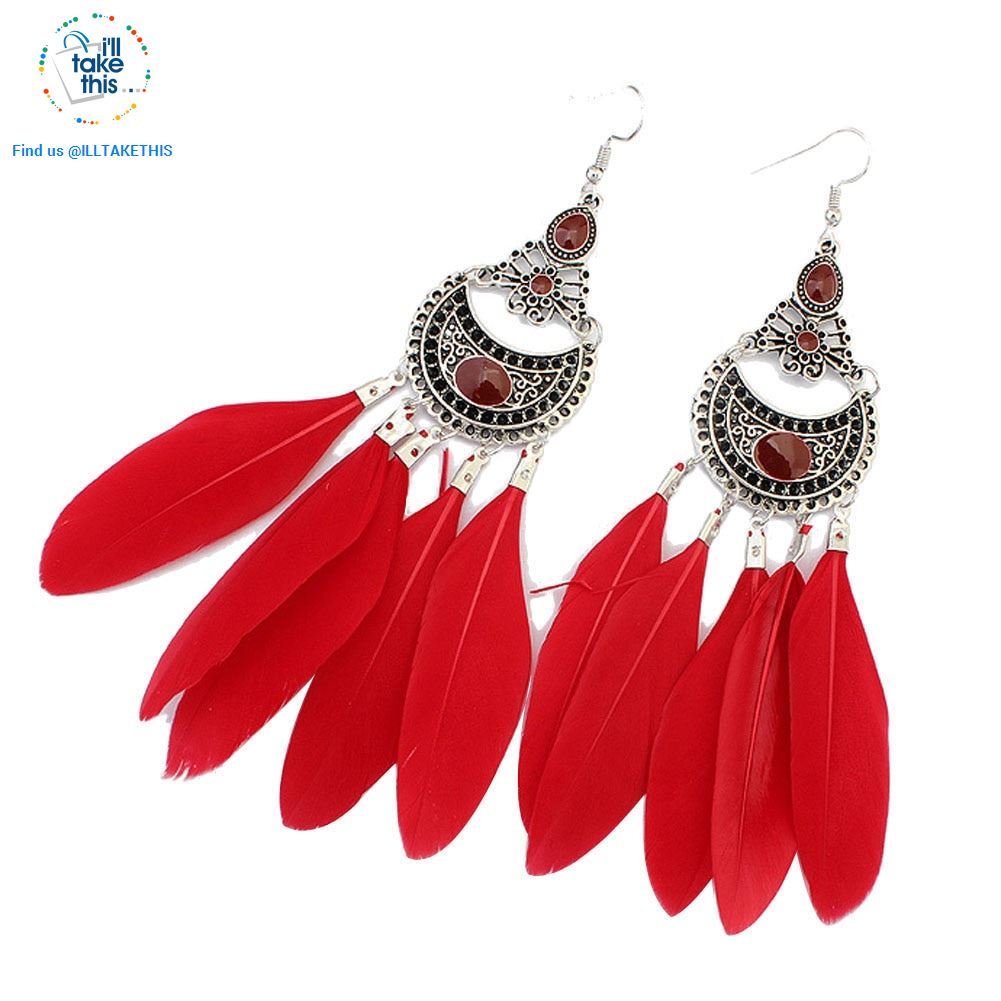 Dream Catcher Vintage Bohemian Style drop Earring - 3 color options - I'LL TAKE THIS