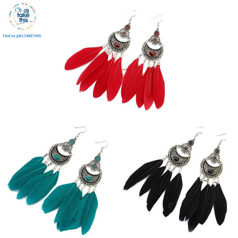 Image of Dream Catcher Vintage Bohemian Style drop Earring - 3 color options - I'LL TAKE THIS