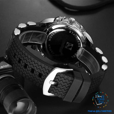 Image of Dual Faced Sports Watch ⌚ Analog/Digital Men's Quartz Wrist Watch - I'LL TAKE THIS