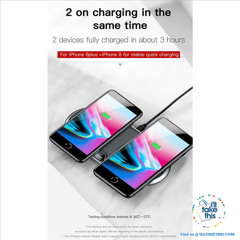 Image of Dual universal wireless charger that you can use on multiple iPhone, Androids  or watch types - I'LL TAKE THIS