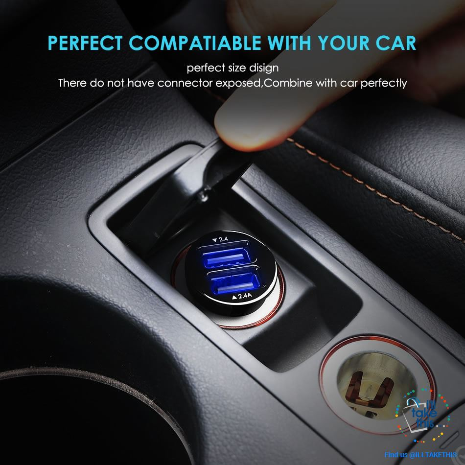 Dual USB Car Charger Quick/Fast Charge Mobile Phone Car-charger adapter for iPhone/Samsung/Lg Phone - I'LL TAKE THIS