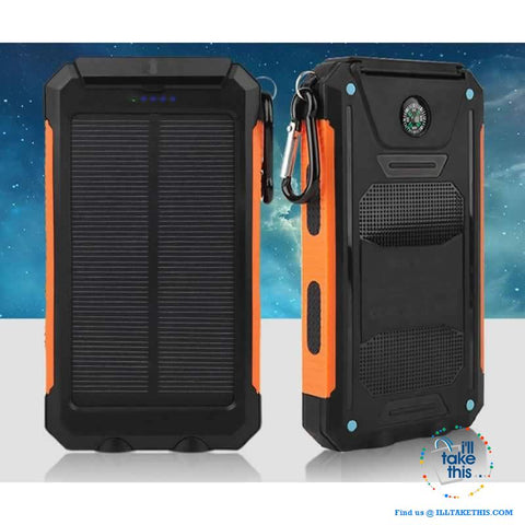Eco-Friendly Solar Power Bank Real 20000 mAh Dual USB - Splashpr