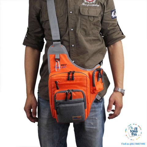 Image of The fisherman's Friend, a Shoulder bag with a multitude of purposes - Three Color options - I'LL TAKE THIS