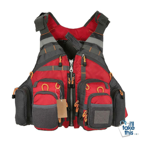 Image of Fishing Vest and/or Life Jacket Ideal for ROCK, Boat or Rapids Fishing with Flotation inbuilt - I'LL TAKE THIS