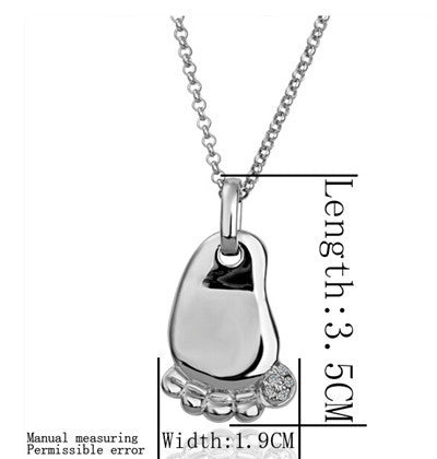 Image of Cute baby foot ideal birth birthday gift Gold or Silver Plated Pendant with FREE Necklace - I'LL TAKE THIS