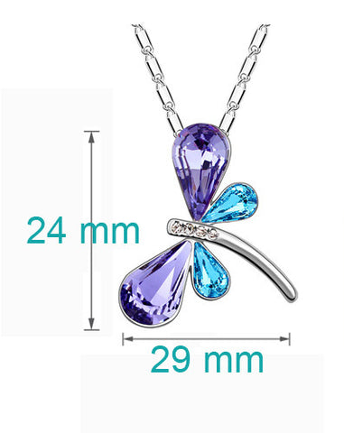 Image of Crystal Dragonfly - Butterfly Pendant with FREE Necklace - I'LL TAKE THIS