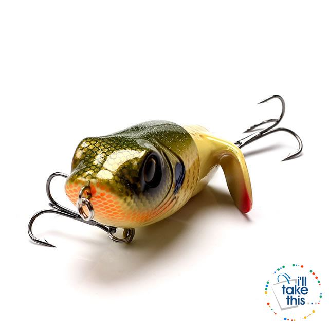 Bigass Bass Frog Fishing lures, JerkPro™ offering 8 Color Option with lifelike swimming motion tail - I'LL TAKE THIS
