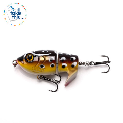 Image of Bigass Bass Frog Fishing lures, JerkPro™ offering 8 Color Option with lifelike swimming motion tail - I'LL TAKE THIS