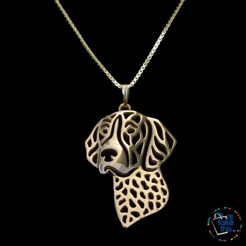 Image of German Shorthaired Pointer Lovers' a unique designed Pendant, in Silver, Gold or Rose Gold plating - I'LL TAKE THIS