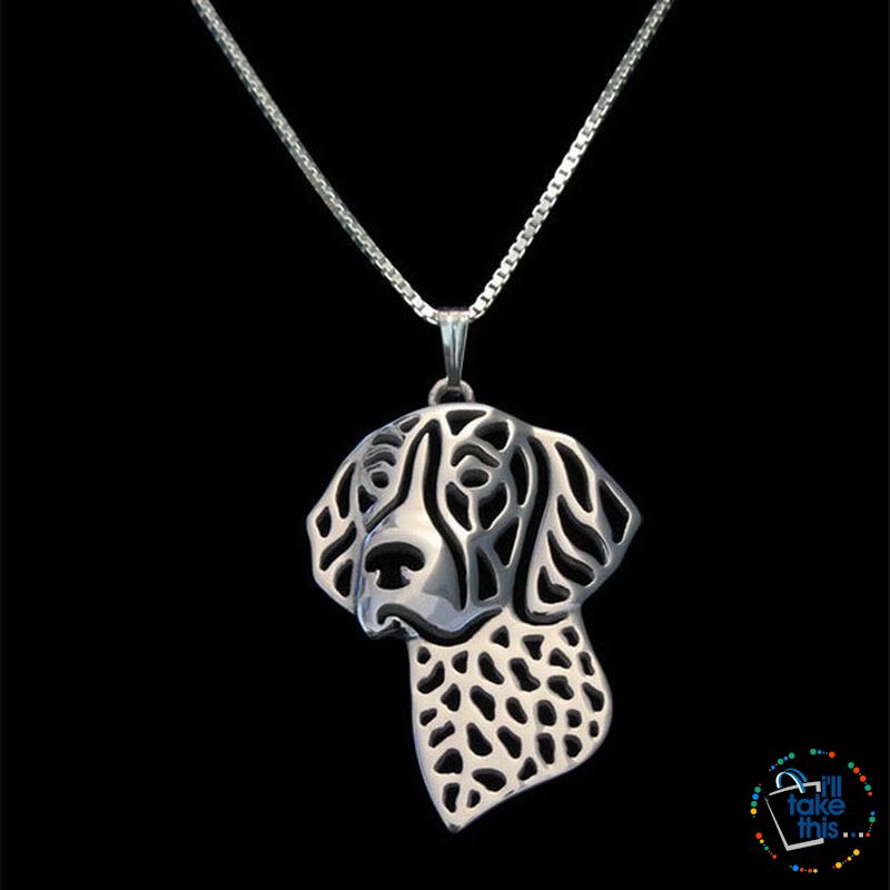 German Shorthaired Pointer Lovers' a unique designed Pendant, in Silver, Gold or Rose Gold plating - I'LL TAKE THIS