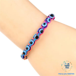 Handmade string evil eye bracelets blue evil eye good Luck bracelet Unisex design