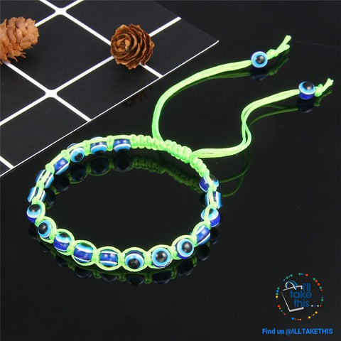 Image of Handmade string evil eye bracelets blue evil eye good Luck bracelet Unisex design - I'LL TAKE THIS