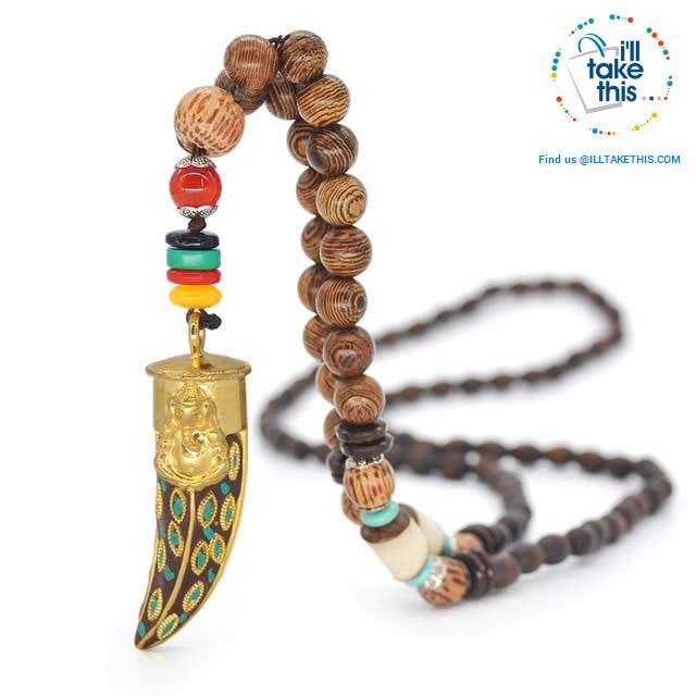 Handmade Buddhist Mala Wood Beads Pendant & Necklace - 11 Statement  Necklaces to choose from - I'LL TAKE THIS