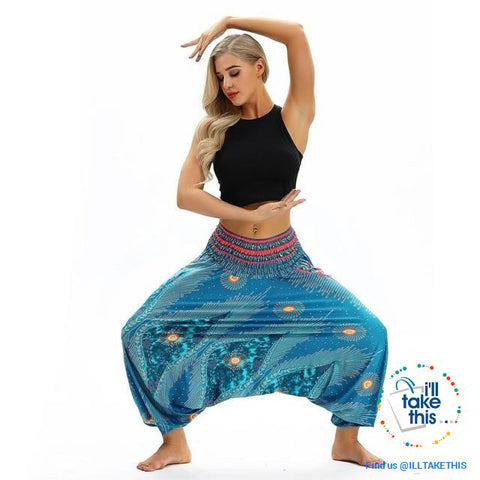 Image of Harem Pants, 25 Unique Bohemian/Hippy Styles with Wide Legs to suit your Yoga, Pilates or Mediation - I'LL TAKE THIS