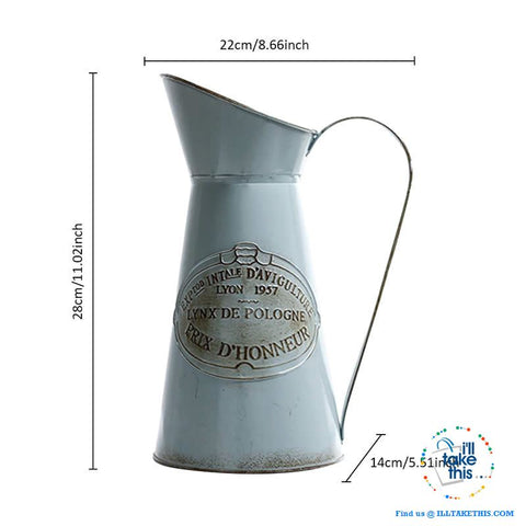 Image of Ideal Vintage Pitcher shaped Vase with handle - Ideal indoor Decor for your Flowers/ Plants - I'LL TAKE THIS