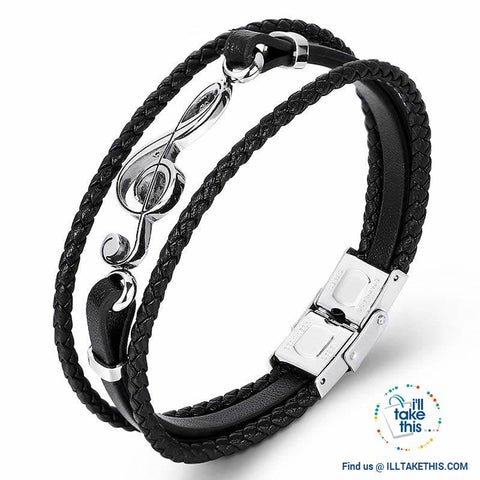 Image of Stainless Steel Guitar or Treble Clef Bracelets/Rope Bangle - Suits all! - I'LL TAKE THIS