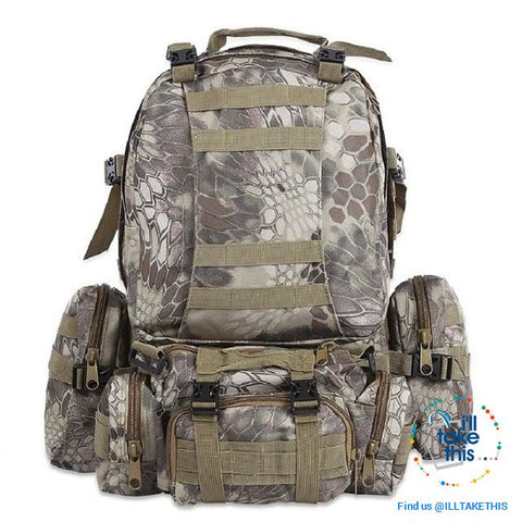 Tactical Camouflage Backpack HUGE 50L Outdoor Sport, Climbing, Hiking, Camping, Travel Sports Bag - I'LL TAKE THIS