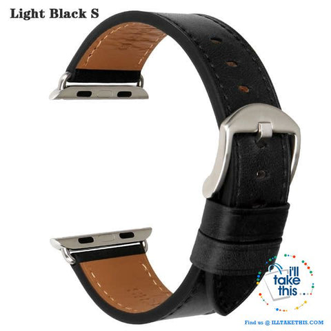 Image of Apple iWatch Leather Wristbands Suit Series 4/3/2/1 - 44, 42, 40, 38mm Watch Band - 5 Colors - I'LL TAKE THIS