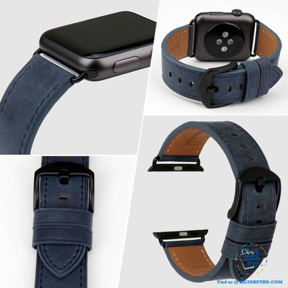 Apple iWatch Leather Wristbands Suit Series 4/3/2/1 - 44, 42, 40, 38mm Watch Band - 5 Colors - I'LL TAKE THIS