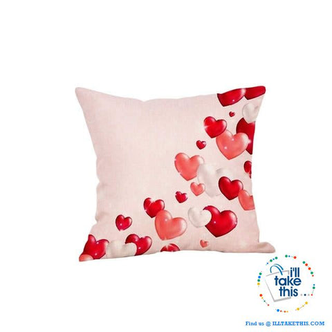 Image of 💝 LOVE Heart Collection of Cotton Linen Pillow Case ideal Valentine's Day Gift, Very Romantic - I'LL TAKE THIS