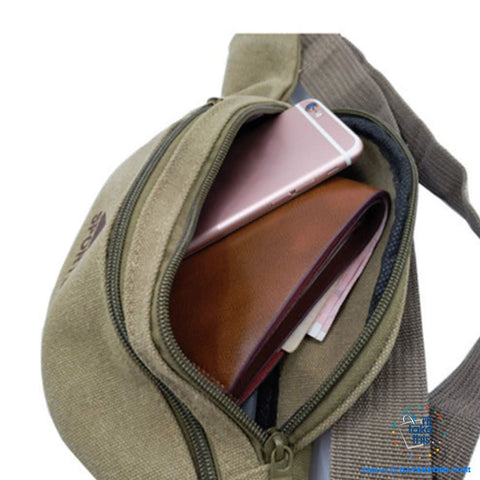 Image of Dual Zipper Canvas Mens/Womens Bum Bag/Fany pack - 5 Colors - I'LL TAKE THIS