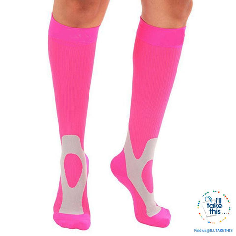 Image of Men or Women Breathable Compression Socks Comfortable Relief Soft, Leg Support Stretch Sock - I'LL TAKE THIS